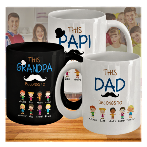 Personalized Mugs: This Belongs To ...