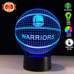 Warriors Ball 3D LED Lamp