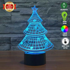 Limited Offer: Christmas Tree 3D Illusion Lamp