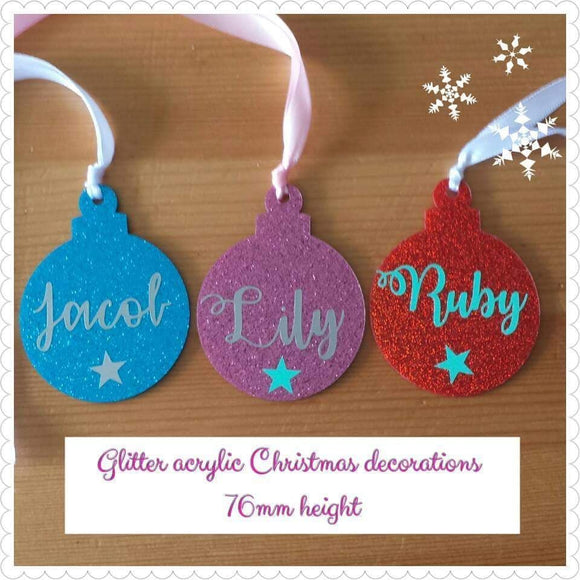 Acrylic Christmas Bauble