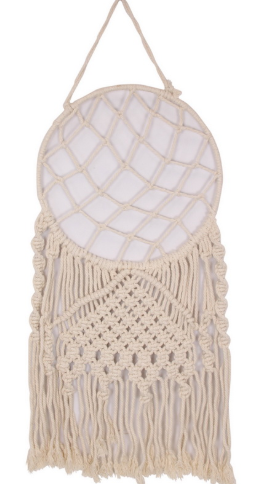 Macrame cream dream catcher