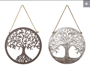Round Tree Of Life Metal Wall Art
