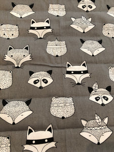 Grey raccoon pram liner