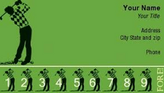 golf course punch card