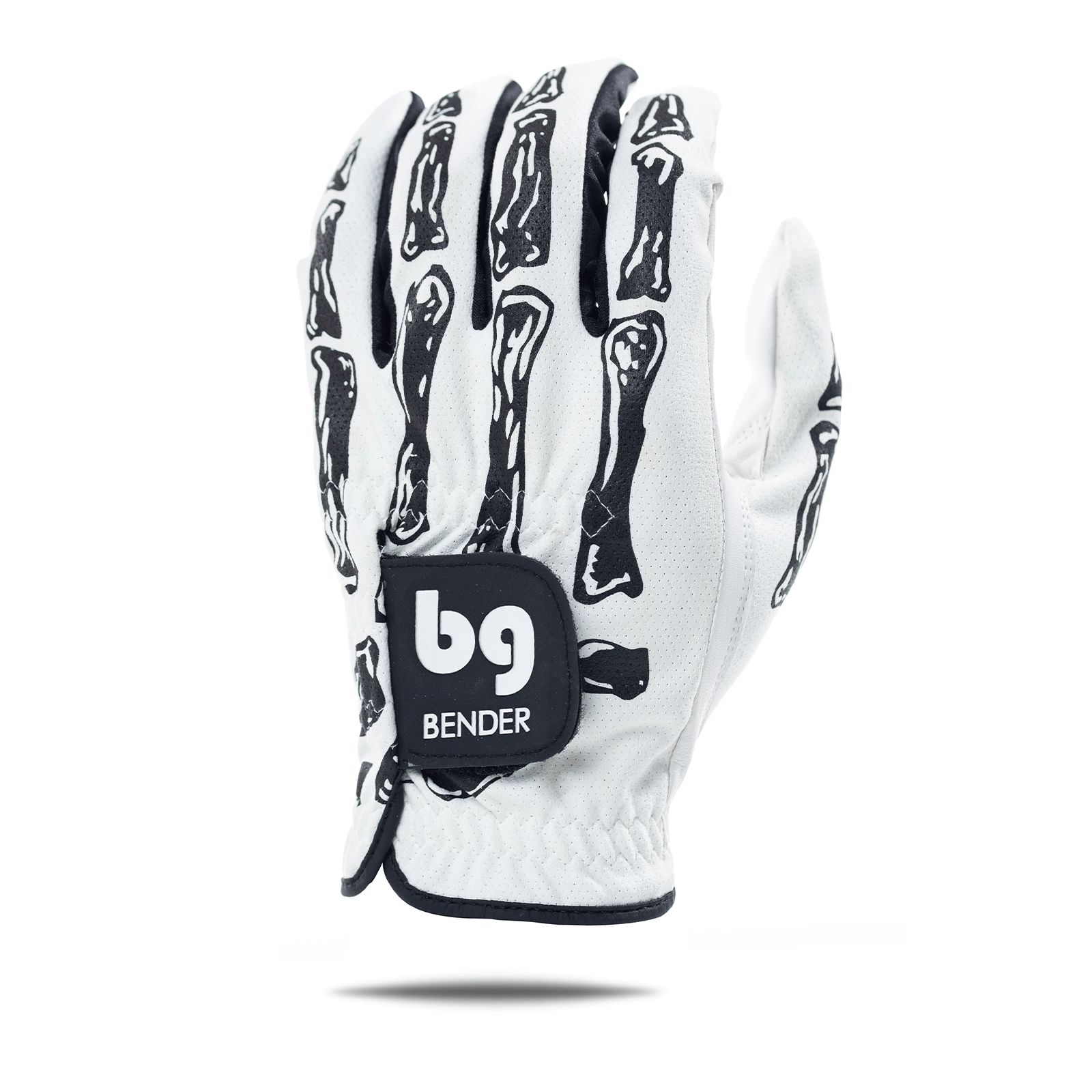 White Bones Mesh Golf Glove