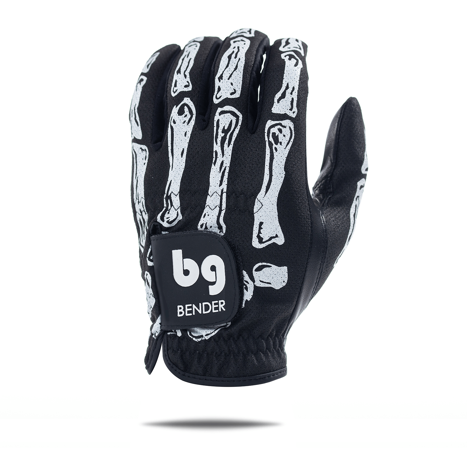 Black Bones Mesh Skeleton Golf Glove