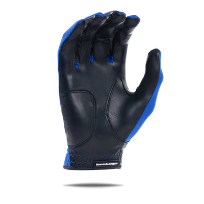 Inside of blue Spandex Bender Glove. All blue design