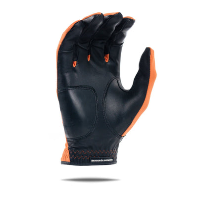 Inside of orange Spandex Bender Glove. All orange design