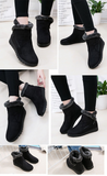 women winter shoes women's ankle boots the new 3 color fashion casual flat warm women's snow boots free shipping