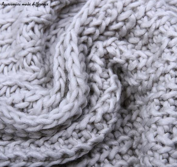 2bd590c1143cf ... Winter Scarf For Men/Women Acrylic Knitted Long Tassel Grey Thick Warm  Soft Unisex Scarf