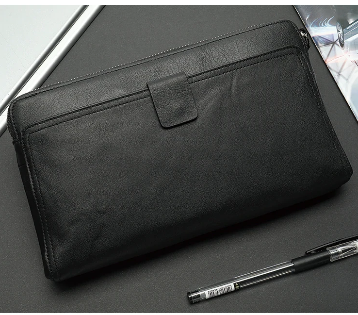 Large Capacity Genuine Leather Man Wallet Card Holder Credit Card Coin Purse Men Wallets Male Clutch Wallet Men Wallets