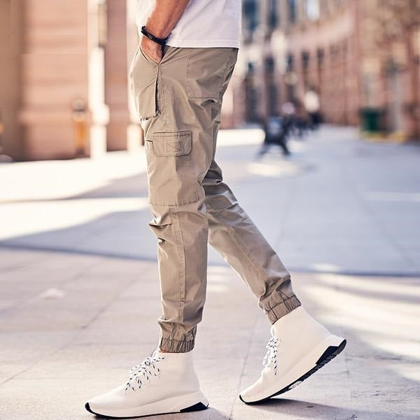 New Summer Mens Cargo Pants Men Joggers Military Casual Solid Cotton Pants Hip Hop Male Army Trousers  KZ6345