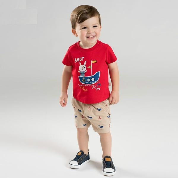 acce2c57f Summer baby boy clothes children clothing sets infant toddler high quality  tops+shorts 2 pcs ...
