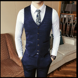 Luxury New Arrival Autumn Formal Mens Suits Wedding Groom Costume Homme Slim Fit British Decent Dinner Suit Grey Blue