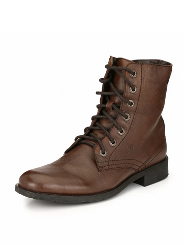 BARCUS BROWN ANKLE BOOTS