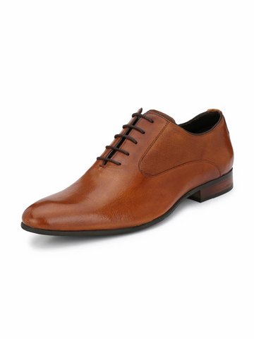 TORRESI STAGIO TAN LEATHER FORMAL MEN SHOES