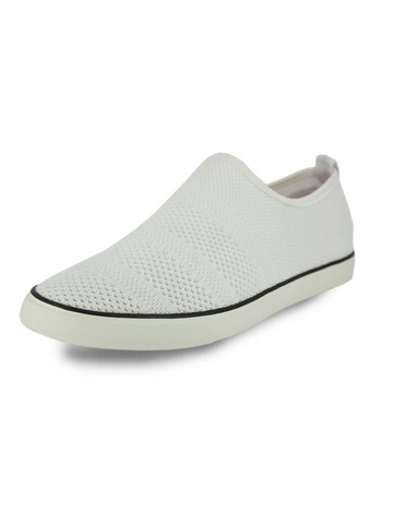 MEN'S SELF TEXTURED WOVEN SLIP ONS
