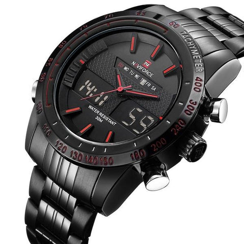 Luxury Brand Men Fashion Sport Watches Men's Quartz Digital Analog Clock Man Full Steel Wrist Watch relogio masculino