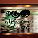 Halloween Wall Sticker PVC Removable Smiling