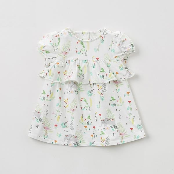 267dd4c947b73 Summer baby girl's princess cute dress flowers children party dress kids  infant floral girl clothes
