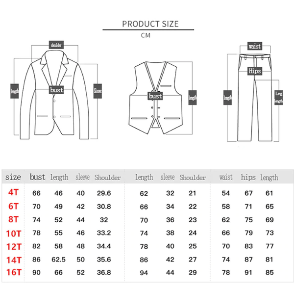 Spring New Boys Clothing School Boys Waistcoat Uniform Shirt Boys Suits For Weddings Costume