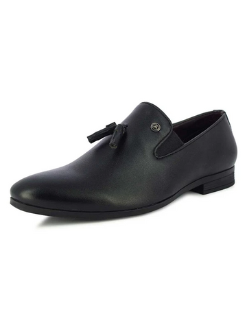 EVAN MEN'S BLACK TASSEL SLIP-ONS