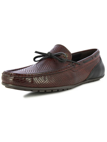 MEN'S MENLO BORDO AND BLACK SIDE LACING SHOES