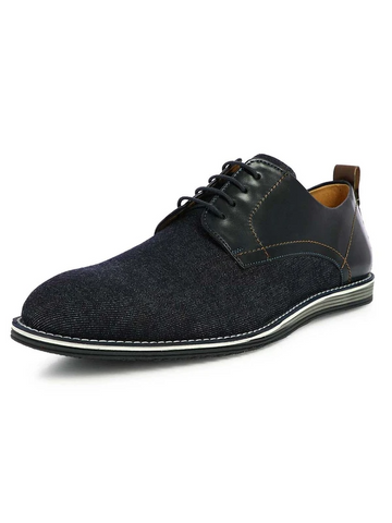 MEN'S JAMES BLUE SEMI-FORMAL DENIM CASUAL SHOES