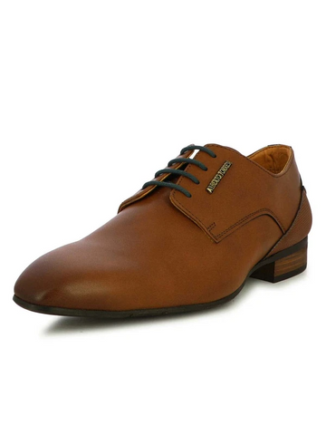 MEN'S PYRO TAN AND BLUE FORMAL SHOES