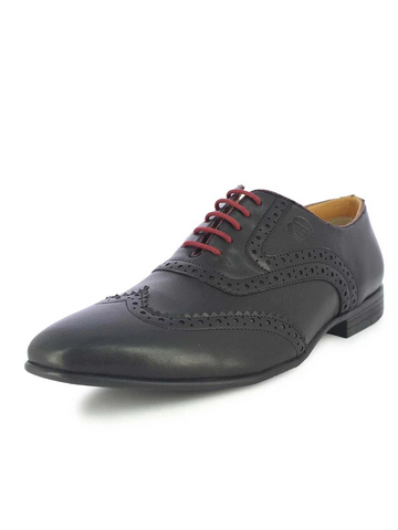 MEN'S DELRAY BLACK BROGUES
