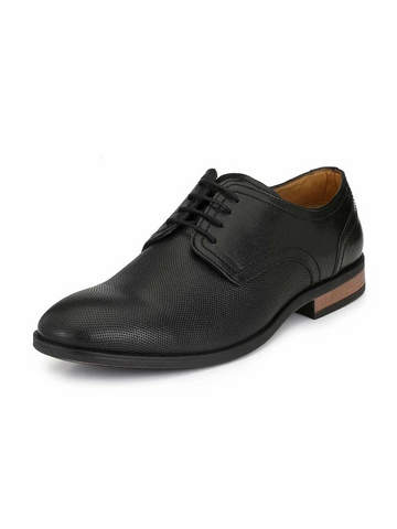 MEN CHRIS LACE-UP BLACK DERBY SHOES