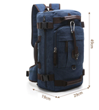 New Backpack Men Vintage Canvas Backpack bucket shoulder bag Large capacity man travel bag mountaineering Rucksacks