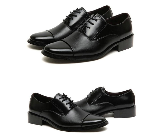 Working Office shoes mens leather shoes white dress shoes business wedding shoes lace up flats big size 37-47 AB-04