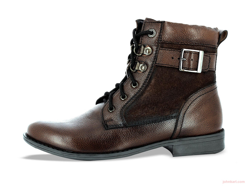 Alberto Torresi Guido Brown Ankle Boots - Johnkart.com