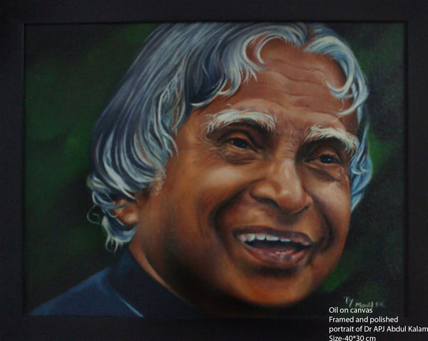 Portrait painting of Dr. A. P. J. Abdul Kalam