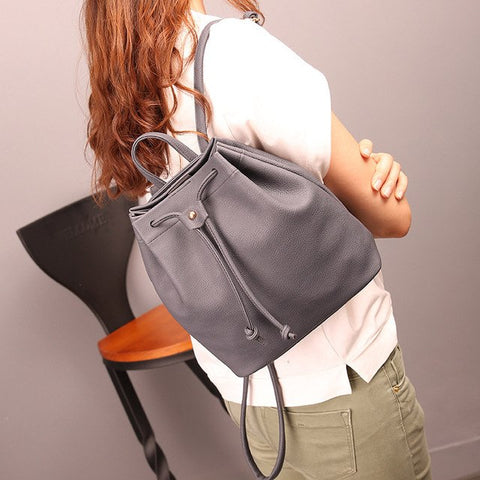 Backpack Women Bucket Bags Fashion Drawstring