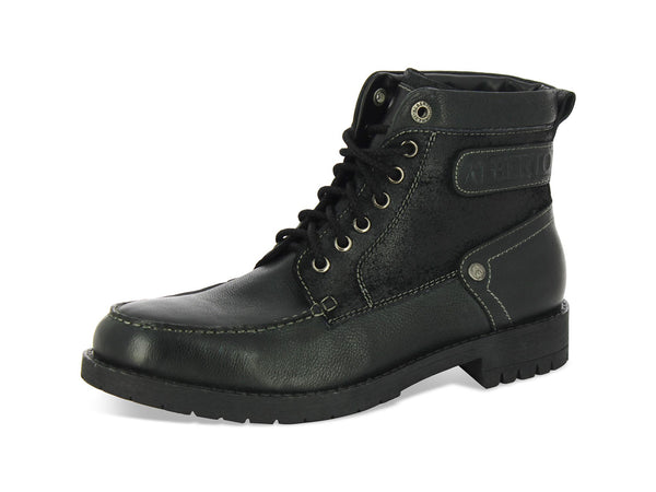 Alberto Torresi Bardo Black Leather Men Boots