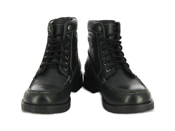Bardo Black Leather Men Boots