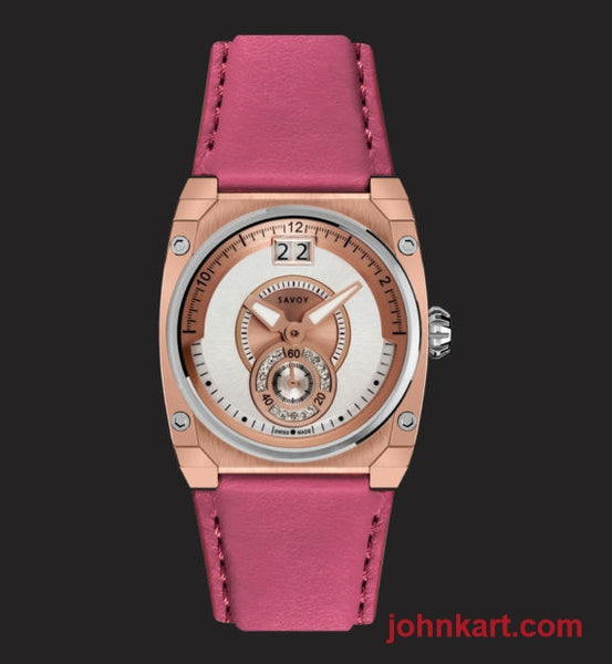 Savoy lady ICON Petite 33mm – Swiss Made – Rose Gold IP – Diamond dial