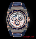 Savoy Extreme Carbon 43mm – Swiss Made Limited Edition to 200 – Titanium IP and blue carbon case side