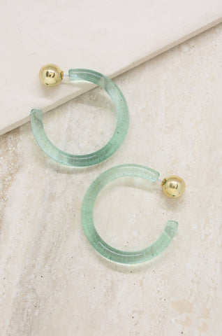 Gemini Hoops in Turquoise and Gold