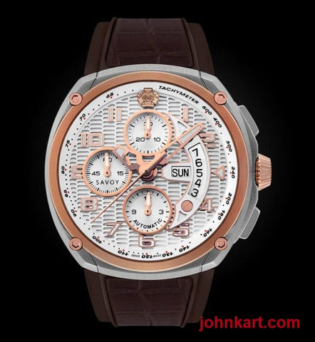 Savoy Epic Automatic Chronograph 44.5mm Swiss Made Stainless Steel Limited Edition – Brown