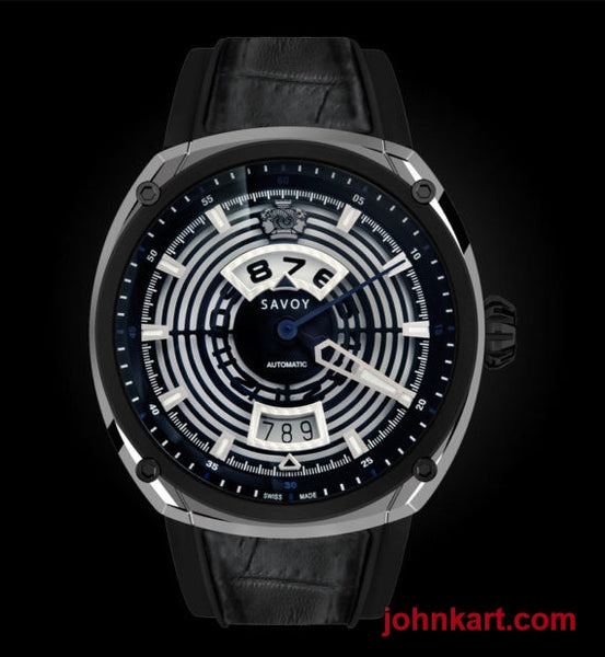 Savoy EPIC Continuous Hour – Automatic – Swiss Made 43mm – Stainless steel and carbon