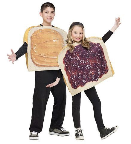 Peanut Butter N Jelly Child Costume Set