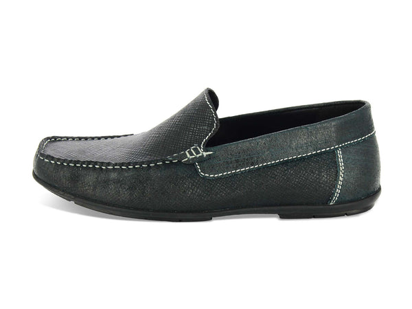 Alberto Torresi Fede Men Black Leather Loafers
