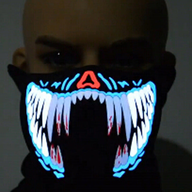 Halloween Mask LED Luminous Flashing Face Mask