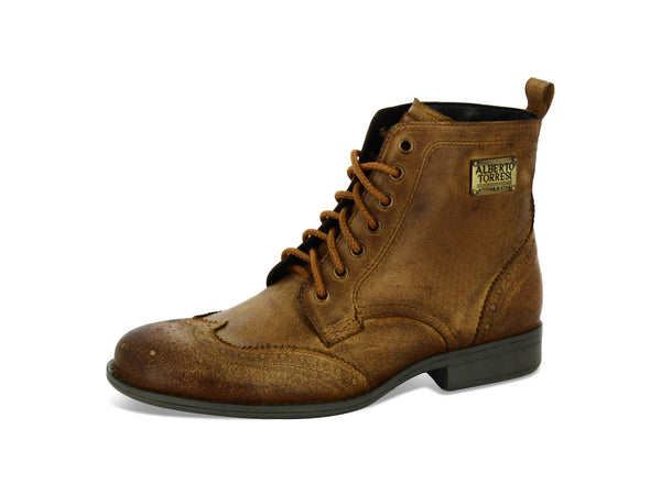 Alberto Torresi Maffeo Tan Leather Men Boots