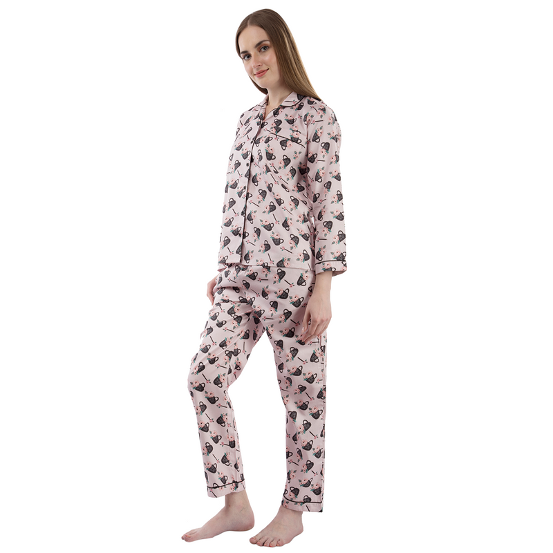 No Bad Days Women's Cotton Pyjama Set