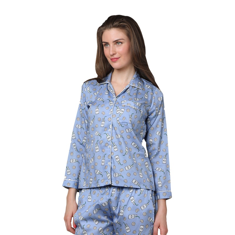 Milk & Cookies  Women's Cotton Pyjama Set