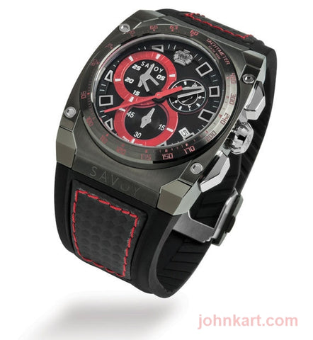 Savoy Chrono Extreme 45mm Swiss Made Black Patterned Dial Limited Edition – Black Chrono Extreme